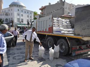 Cihanbeyli'de 600 aileye yardım