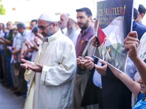 Konyada İsrail terörü protesto edildi