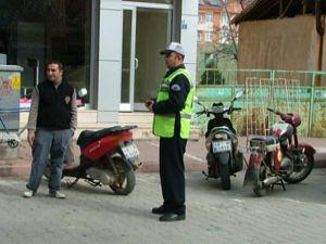 Konya da motosikletlere sıkı denetim