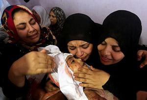 Gazzede yüreklere evlat acısı düştü