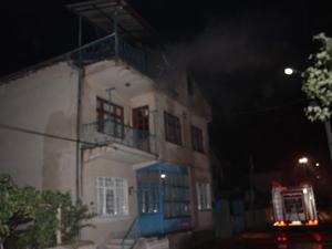 Evin çatı katı yandı