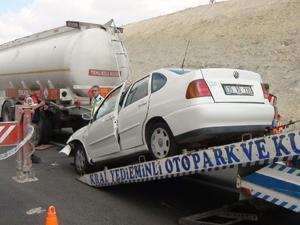 Konyada feci kaza; 1 ölü 4 yaralı
