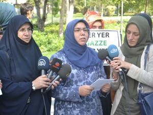 Konyalı kadınlardan İsrail'e tepki