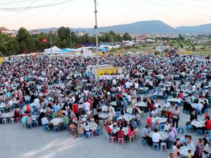 Beyşehirde toplu iftar coşkusu