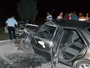 Konyada iki otomobil çarpıştı;  8 yaralı