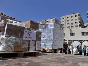 Türk Kızılayının yardımı Gazzeye ulaştı