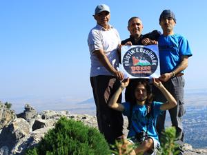 Seydişehirli dağcılar 'Gazze' için tırmandı