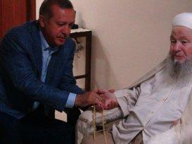 Erdoğan, Mahmut Efendiyi ziyaret etti