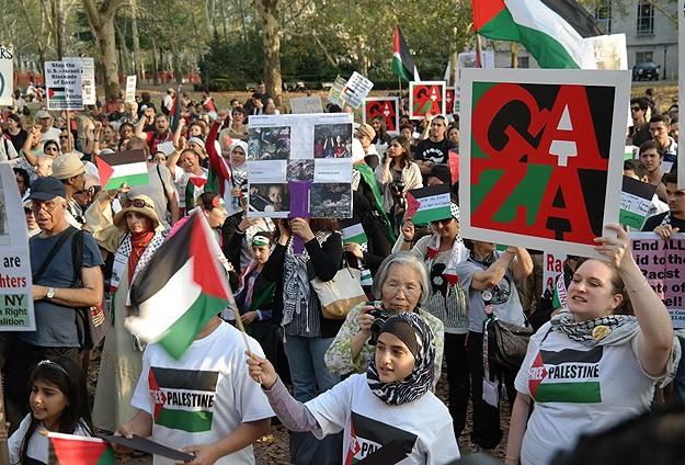 ABDde Gazzeyle dayanışma yürüyüşü