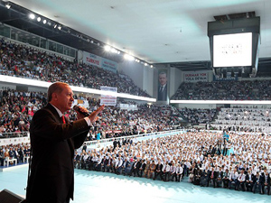 Erdoğan konuşmasında sadece onun ismini andı