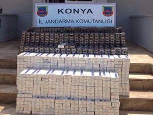 8 bin paket kaçak sigara ele geçirdi
