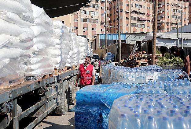 Türk Kızılayının Gazzeye yardımları ulaştı