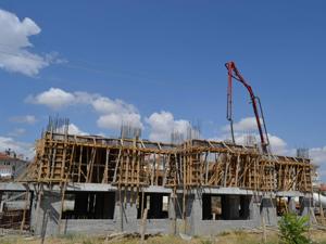 Kulu'da yeşil cami inşaatı devam ediyor