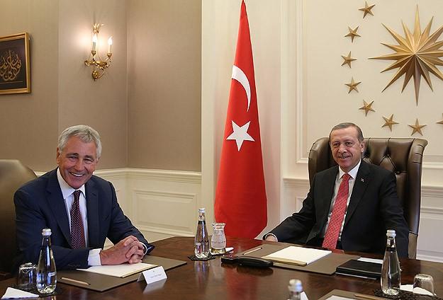 Erdoğan ABD Savunma Bakanını ağırladı