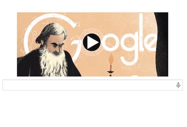 Googledan Tolstoya özel doodle