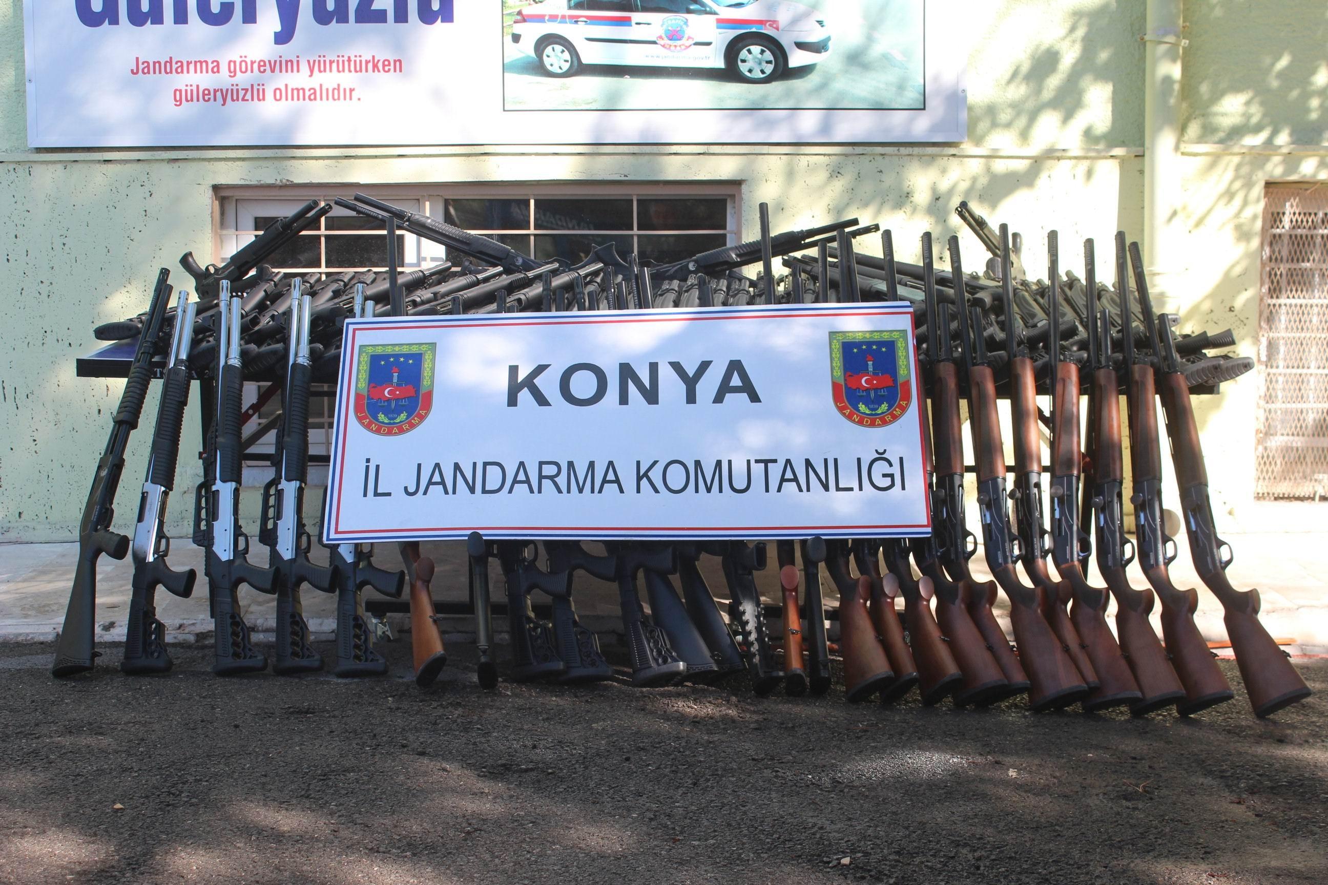 Beyşehir'de silah operasyonu