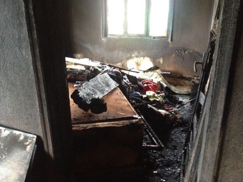 Beyşehirde ev yandı