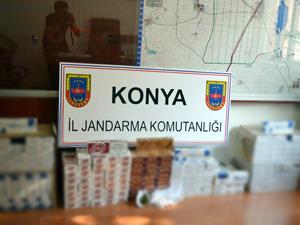 Kulu'da kaçak sigara ve uyuşturucu operasyonu