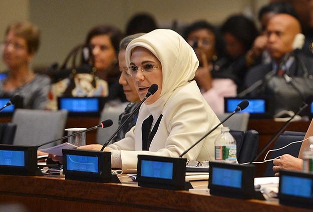 Emine Erdoğan BMde kız çocuklarıyla ilgili konuştu