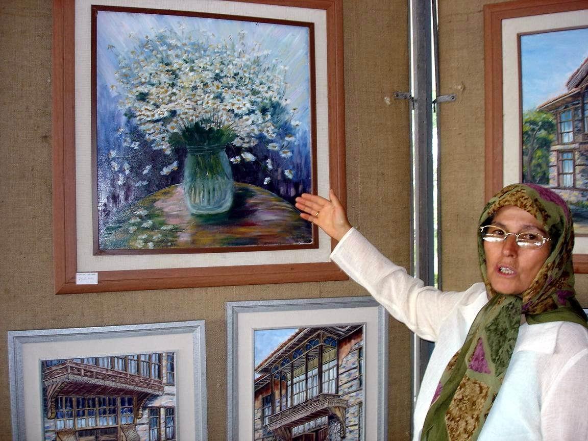 Seydişehirli Fatma Kırdar'dan Mardin'de resim sergisi
