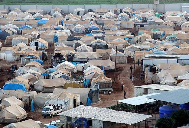 Suriyedeki çadır kentlerde kış hazırlığı