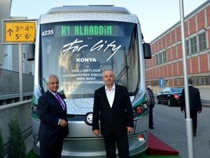 Konyanın tramvayları Berlinde ilgi gördü