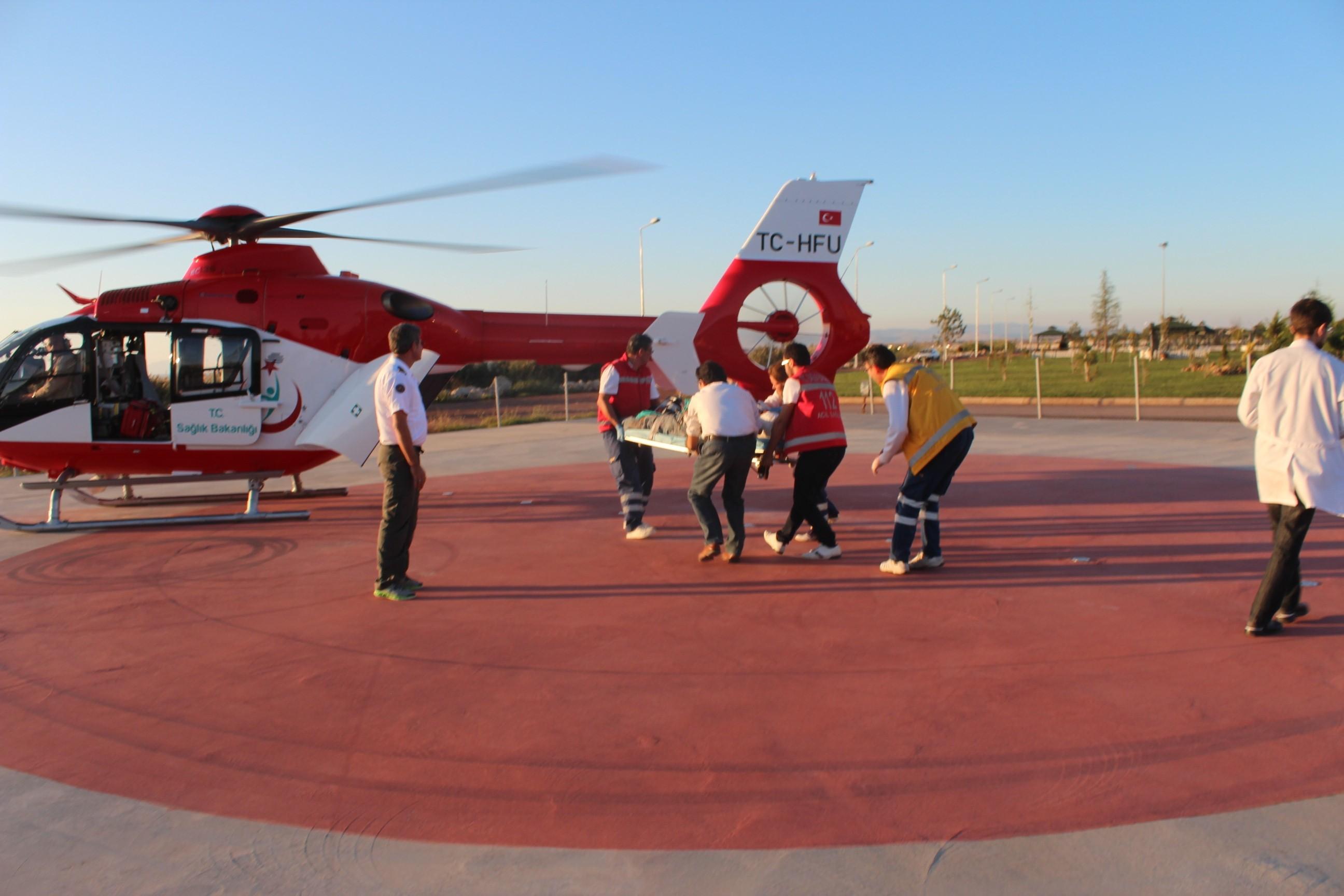 Hava ambulansı inşaat işçisi için havalandı