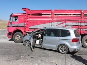 Konya'da kamyon ile otomobil çarpıştı: 9 yaralı