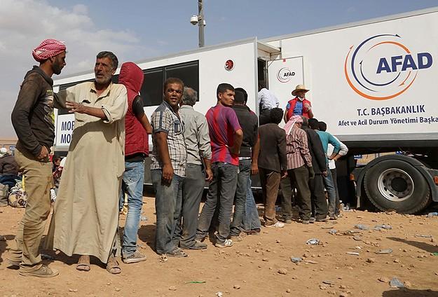 Türkiyeden Kobaniye insani yardım