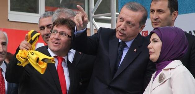 Bayburtta Erdoğanı gülümseten afiş