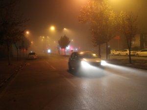 Konyada sis etkili oldu