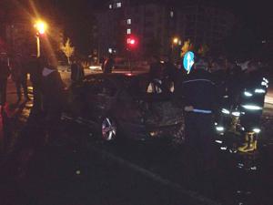 Konyada LPGli oto yandı