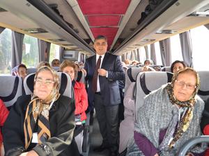 Ereğli'de kültür gezisi yolcuları uğurladı