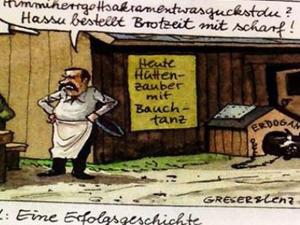 Almanyada Erdoğana büyük saygısızlık