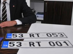 Erdoğanın memleketi Güneysuya özel plaka