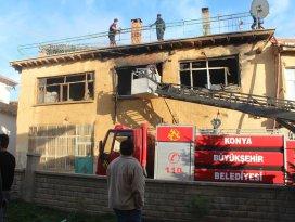 Konyada ev yangını: 1 ölü