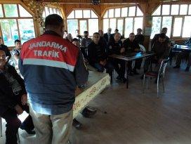 Jandarmadan sürücülere seminer