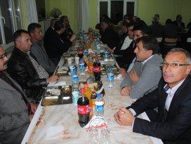 Beyşehir'de karayolları şefine veda yemeği
