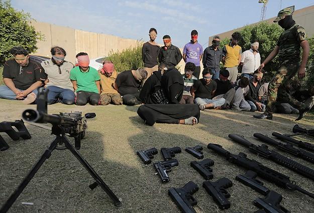 Bağdatta çete üyeleri gözaltına alındı