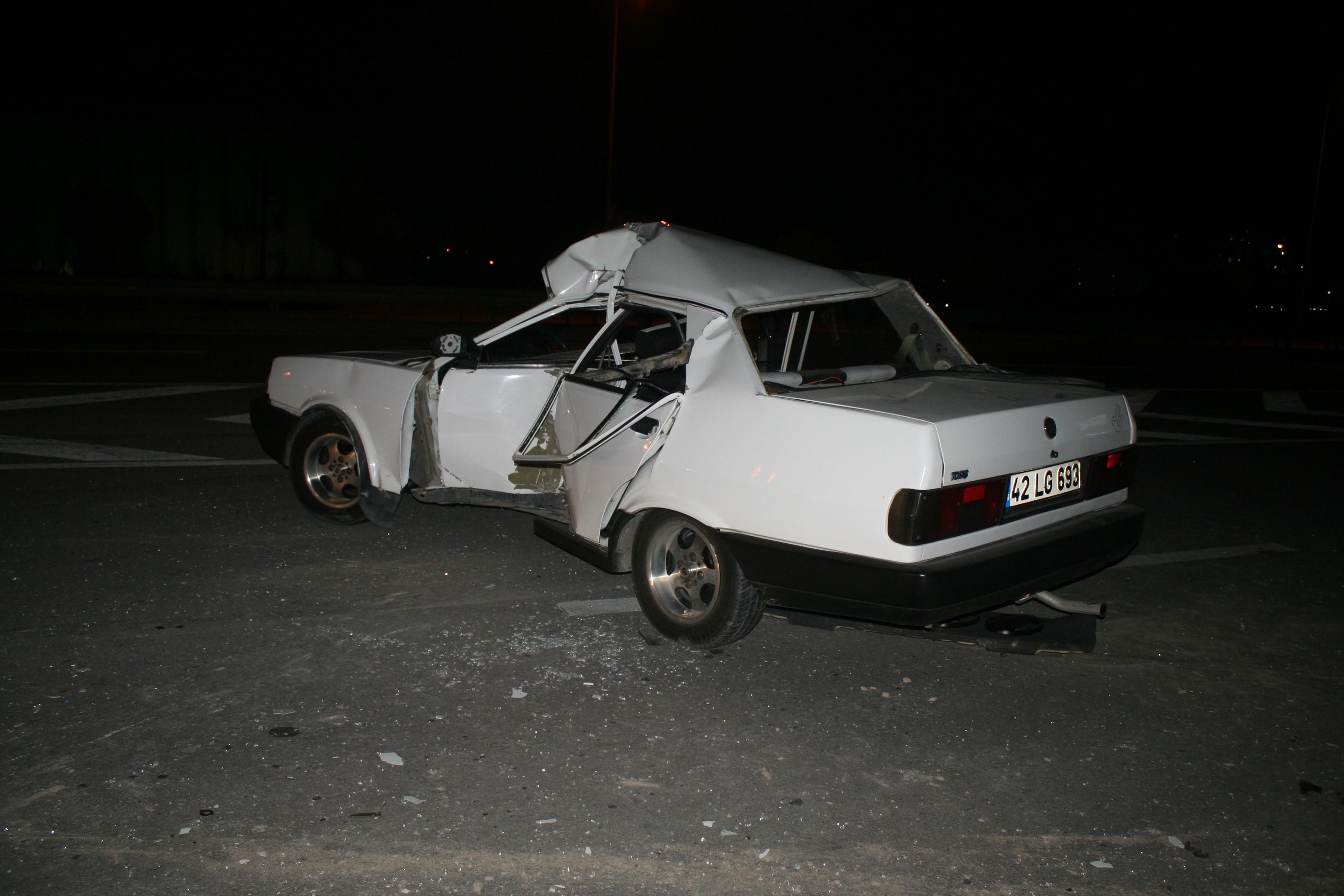 Konyada ehliyetsiz sürücü kazada öldü