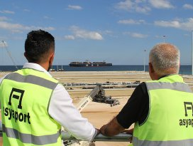 Dünya limanı Asyaportta sona yaklaşıldı