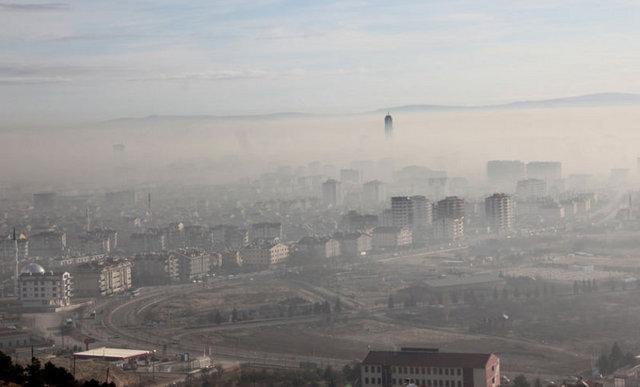 Konyada yoğun sis