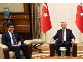 Erdoğan Barzaniyi kabul etti