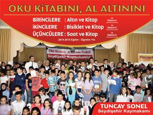 """Seydişehir'de """"Oku kitabını al altınını"""" projesi"""