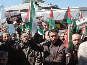 Konyadan İsraile protesto