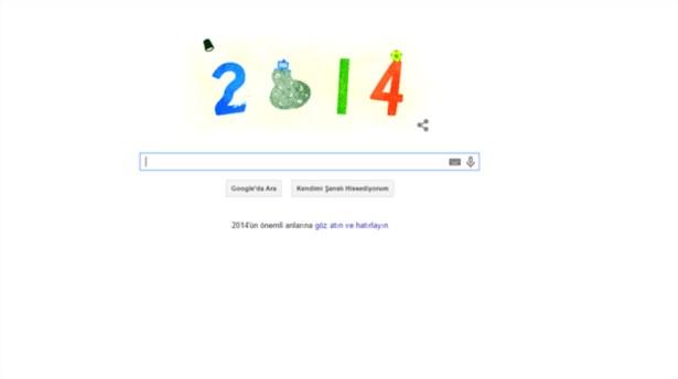Googledan yeni yıl Doodleı