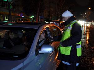 Konyada sürücülere alkol kontrolü