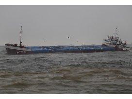 Samsunda kuru yük gemisi karaya oturdu