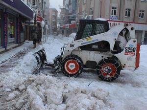 Beyşehir'nin karla mücadelesi sürüyor