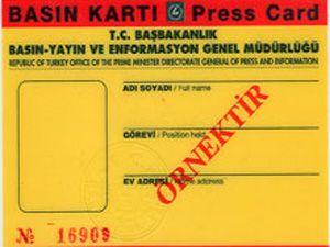 236 kişiye basın kartı